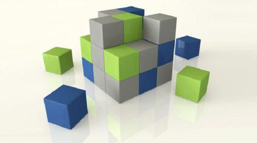 Random coloured blocks
