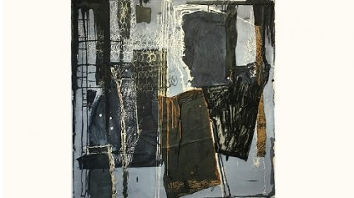 An abstract painting featured in the exhibition
