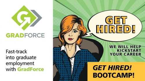 Get Hired! Bootcamp notification